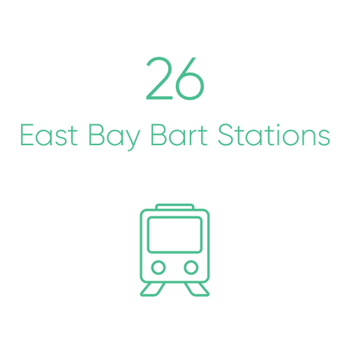 26 East Bay BART stations