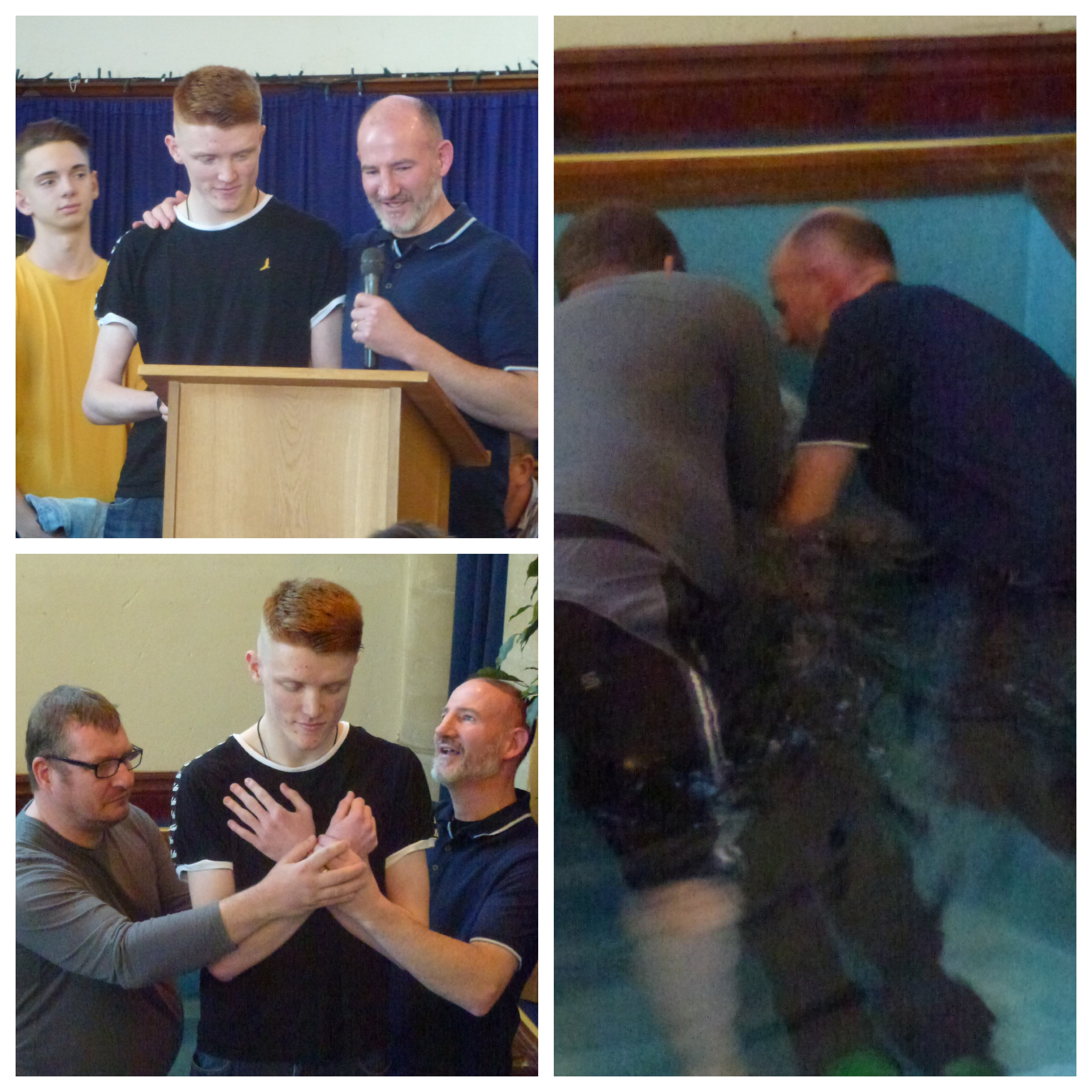 James being baptised on 24th March.