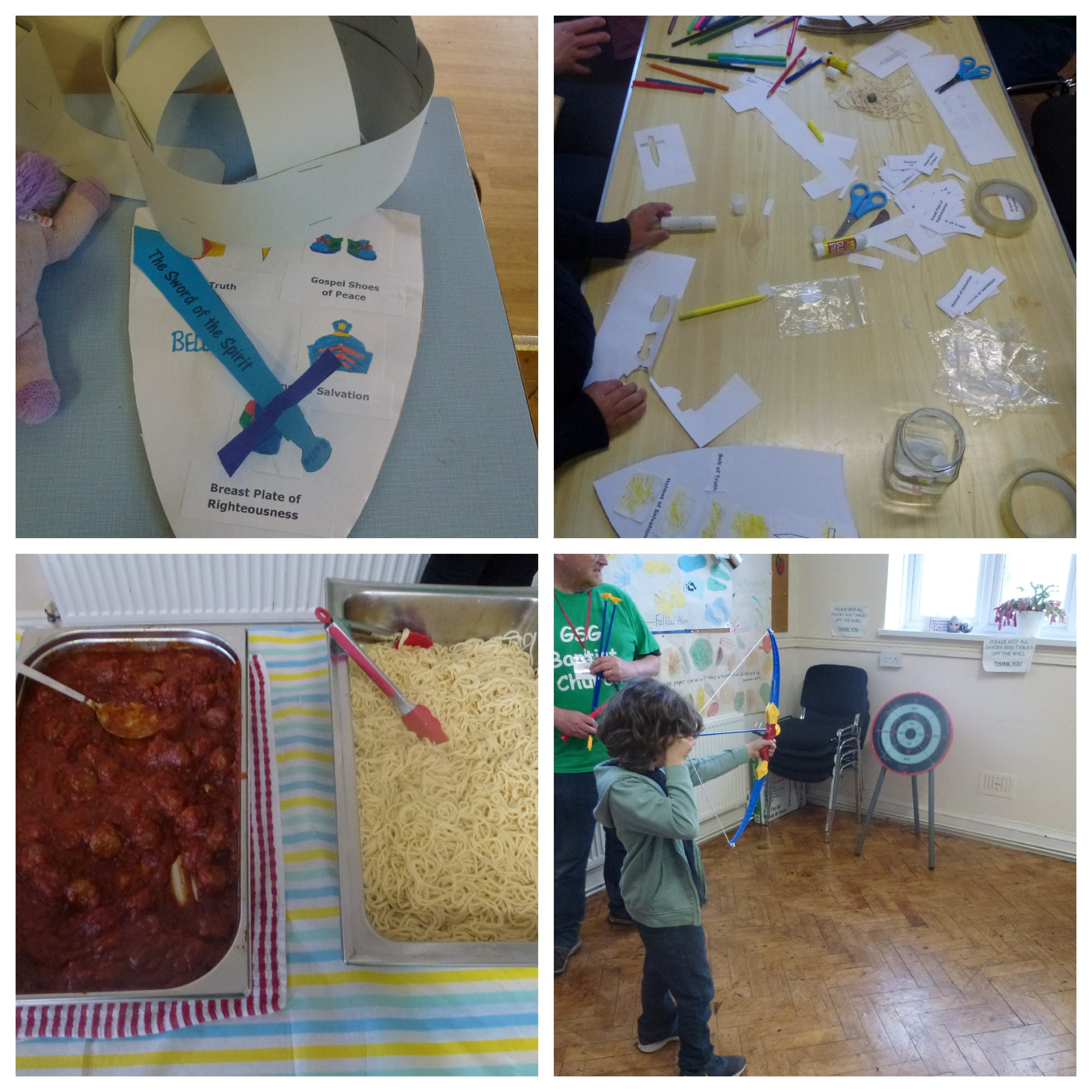 The Armour of God was the theme for May Messy Church