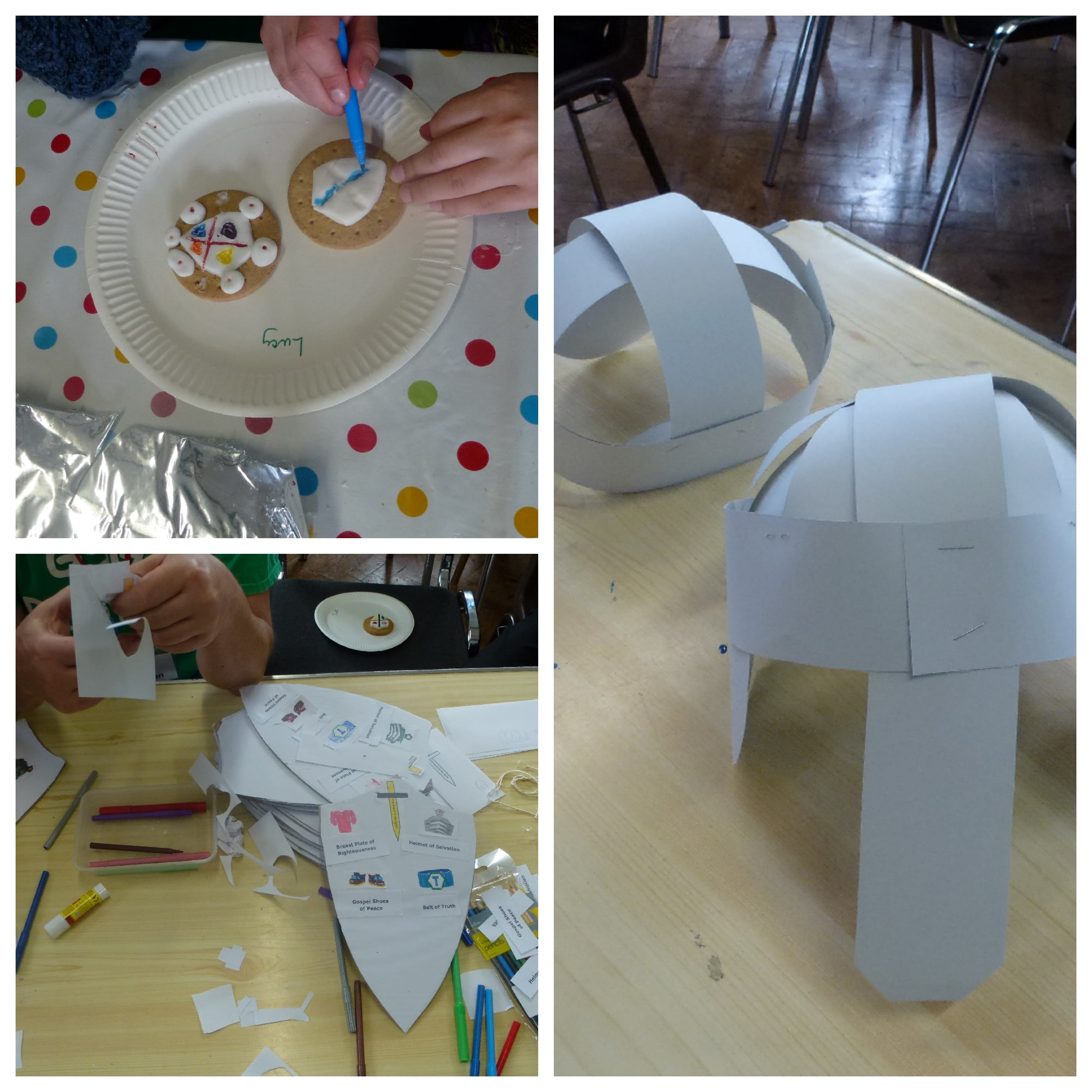 Some of the crafts at our May Messy Church