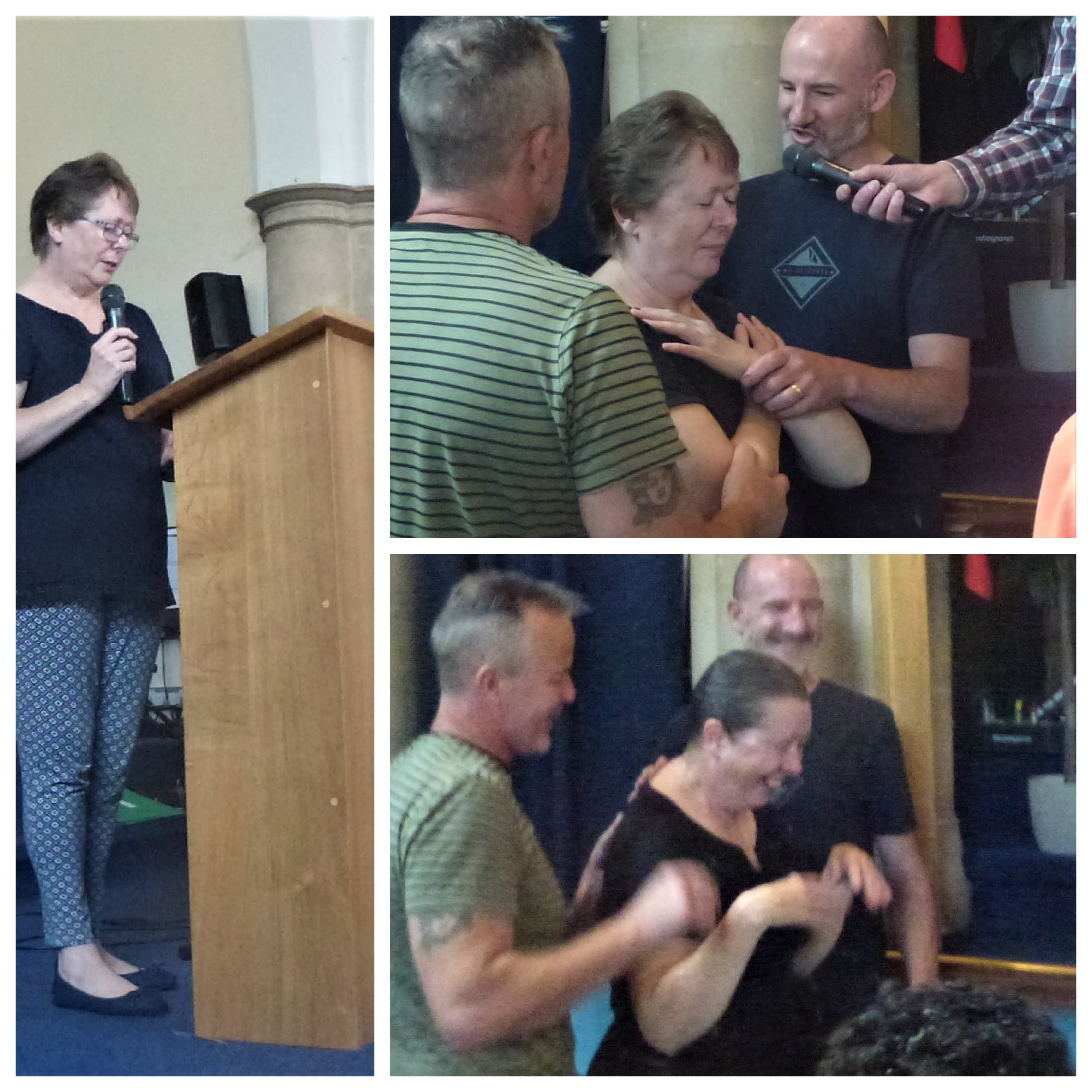 Fiona being baptised on 9th June 2019