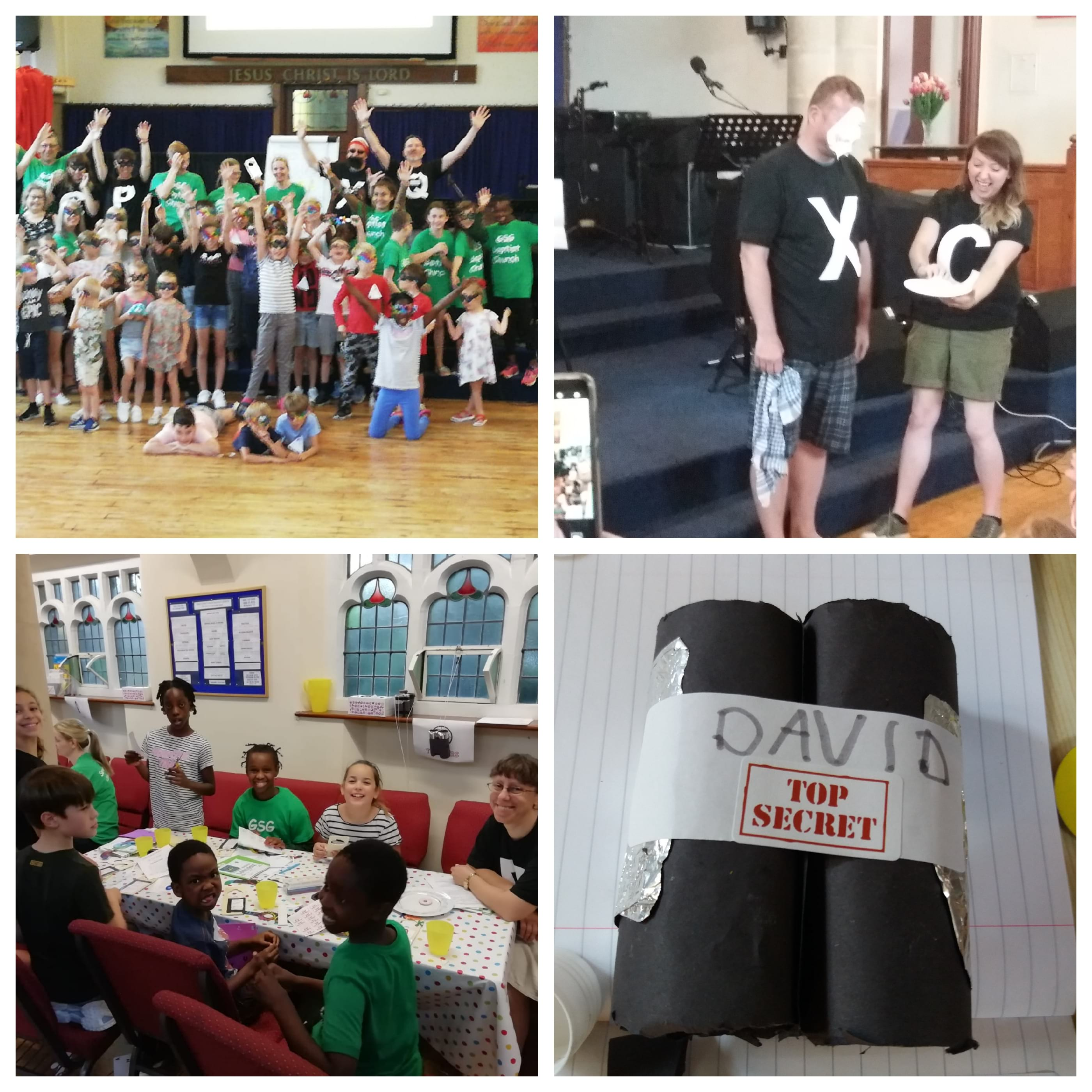 Who is JESUS? was the question at our children's holiday club on 24th, 25th and 26th July. The children were trained at Mission Control as secret agents, to ASK, SEEK and KNOCK. There were games, crafts, songs, puppets, puzzles, exploding clues and more!