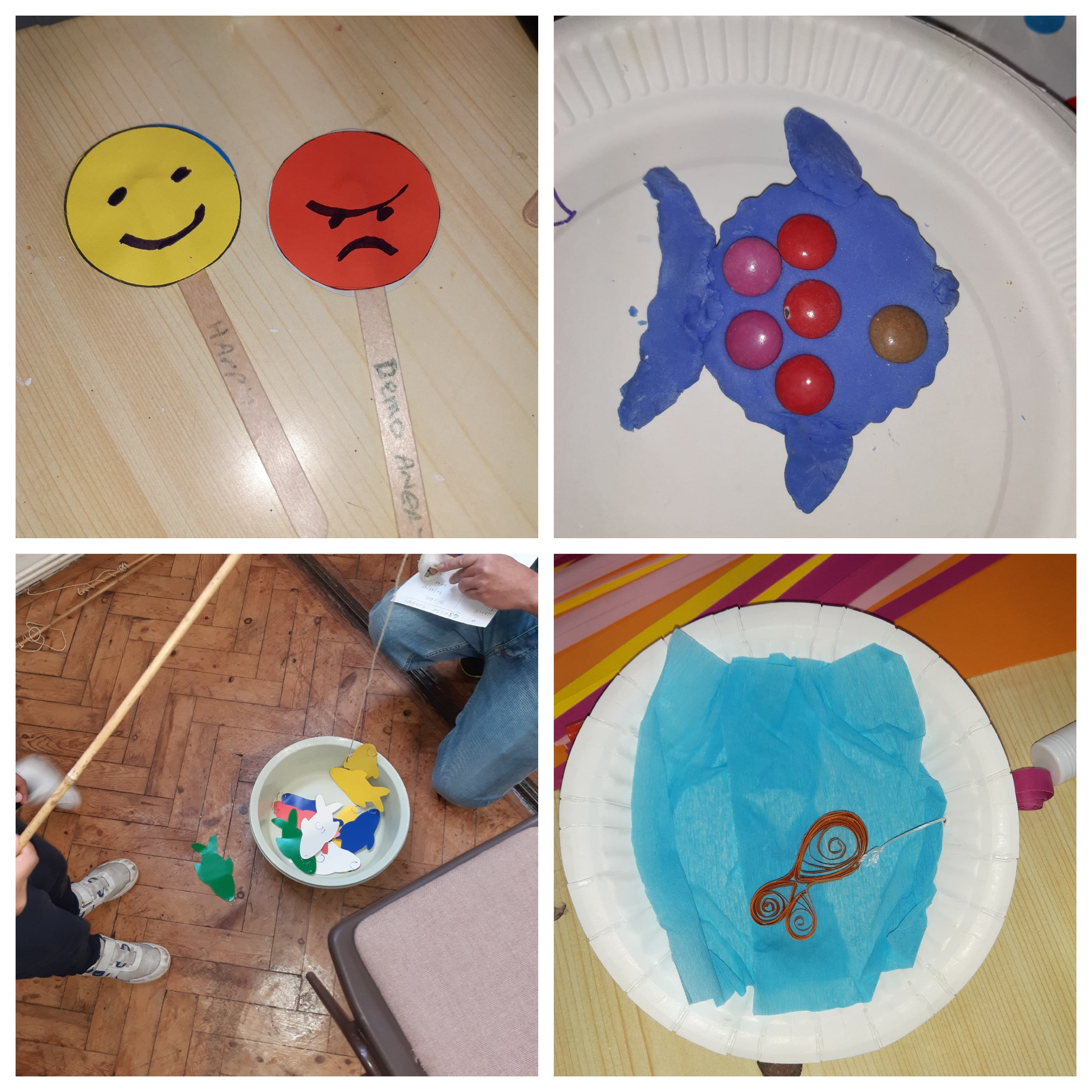 September messy church was about Jonah the moaner. Here are a few of the crafts and the fishing game. We ended with burgers, sausage rolls, chips and beans and a variety of iced creams.