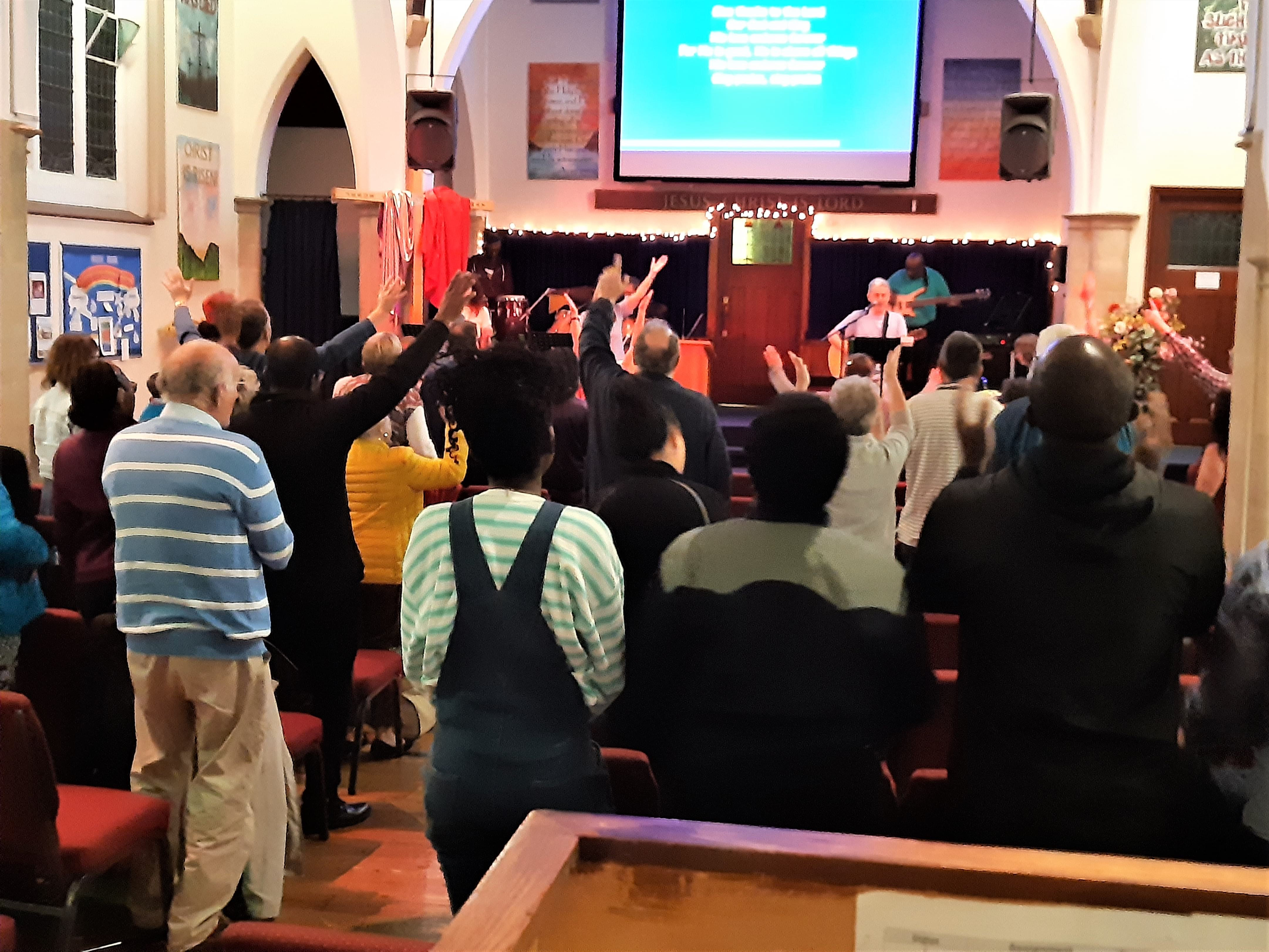 The TURNING has started in the Orpington area. Churches are coming together at 'The Green' to worship in the evening before going out the following day evangelising.