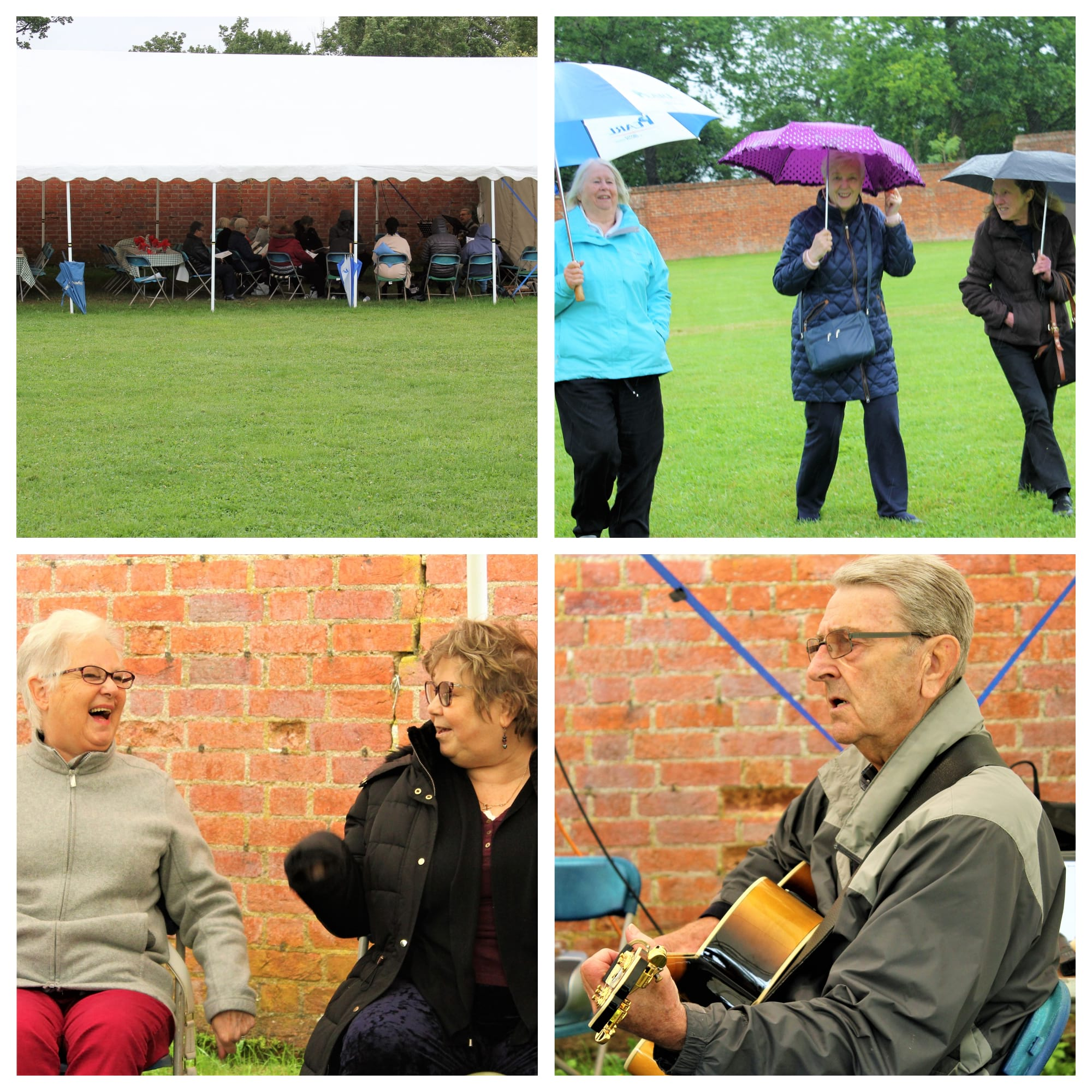 A home group had a great day out at Otford Manor despite the weather.