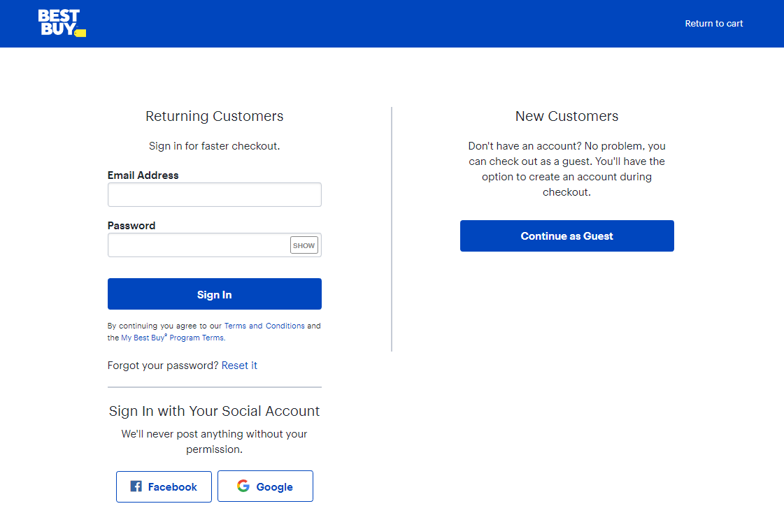 best buy create account guest checkout