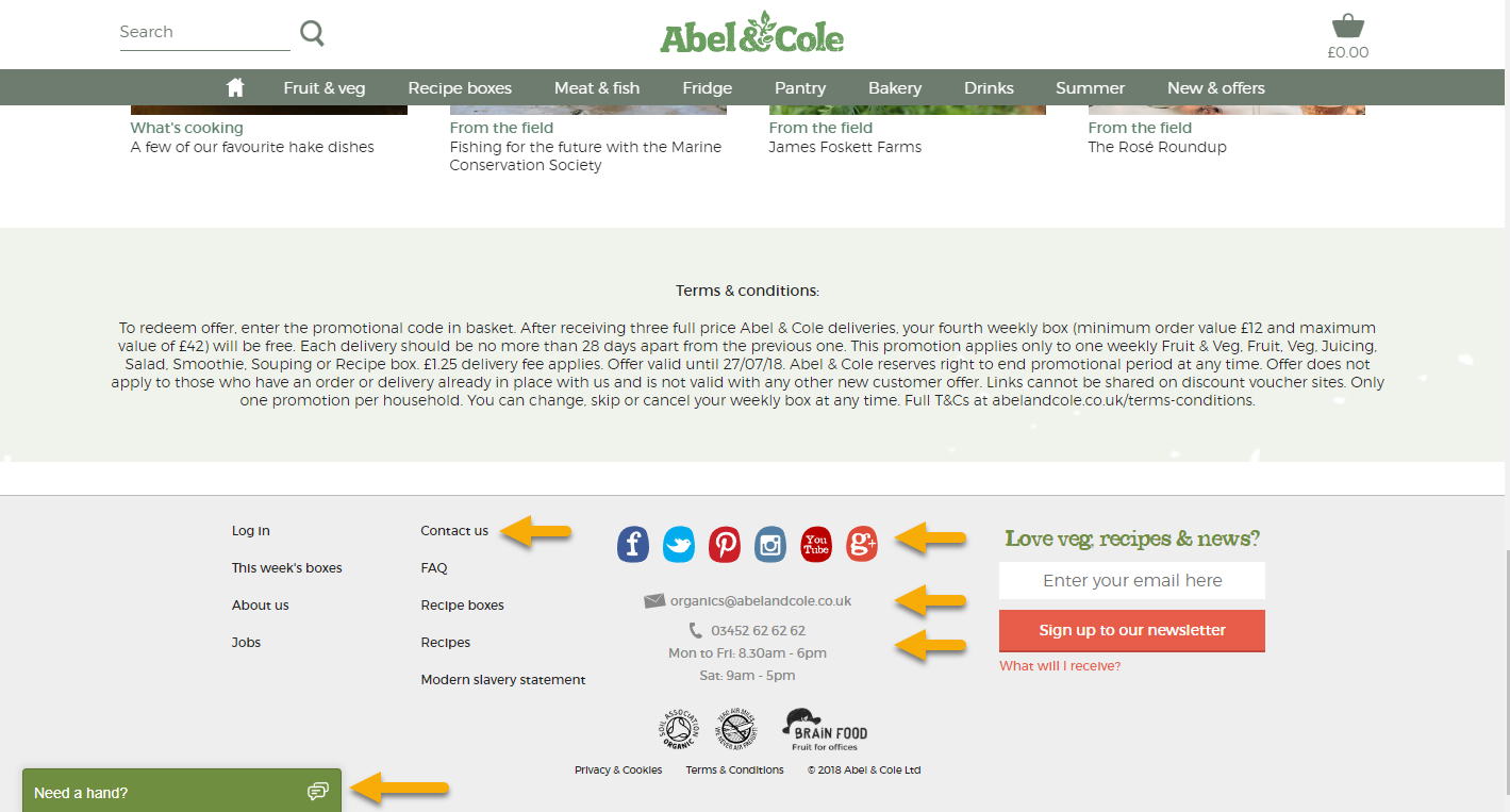 abel&cole customer retention rate