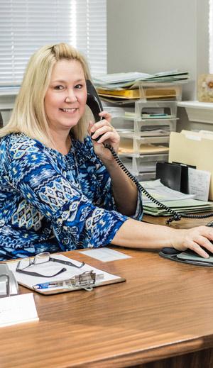 Photo of TPTCU employee on phone