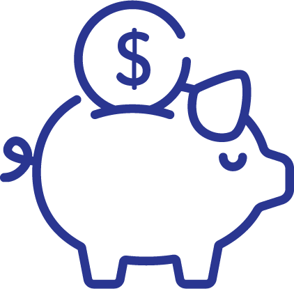 Icon of Piggy Bank for Traditional & Roth IRA