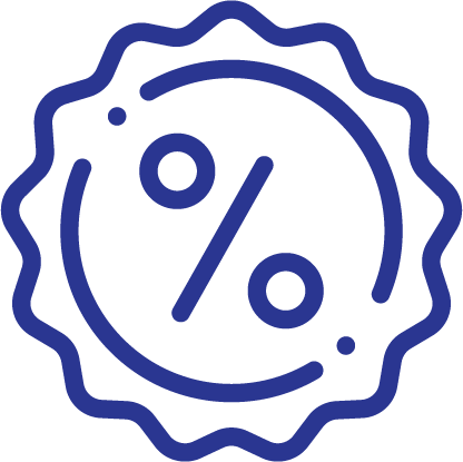 Icon of Percentage Seal for Share and Special Savings Account