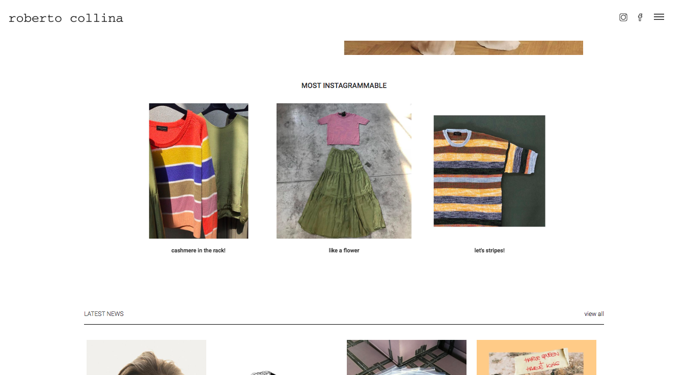 NEW HOMEPAGE AND SECTION