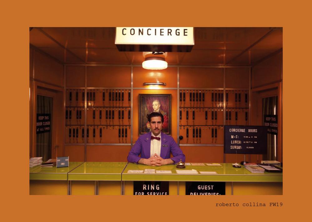 ROBERTO COLLINA'S GRAND BUDAPEST HOTEL FOR FALL WINTER 19