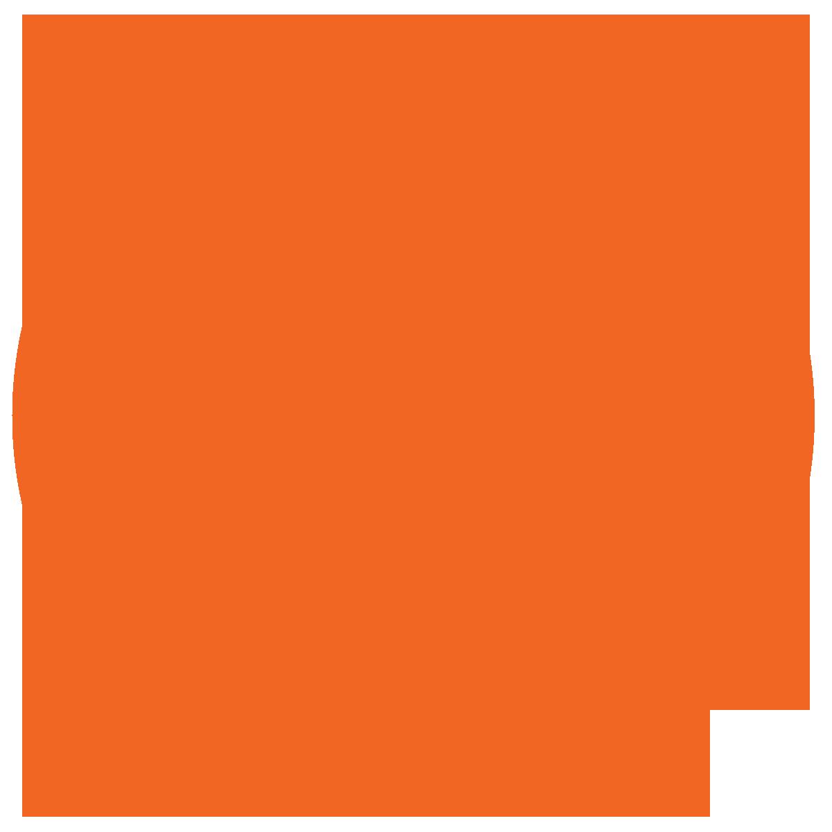 橙色背景上的核符号