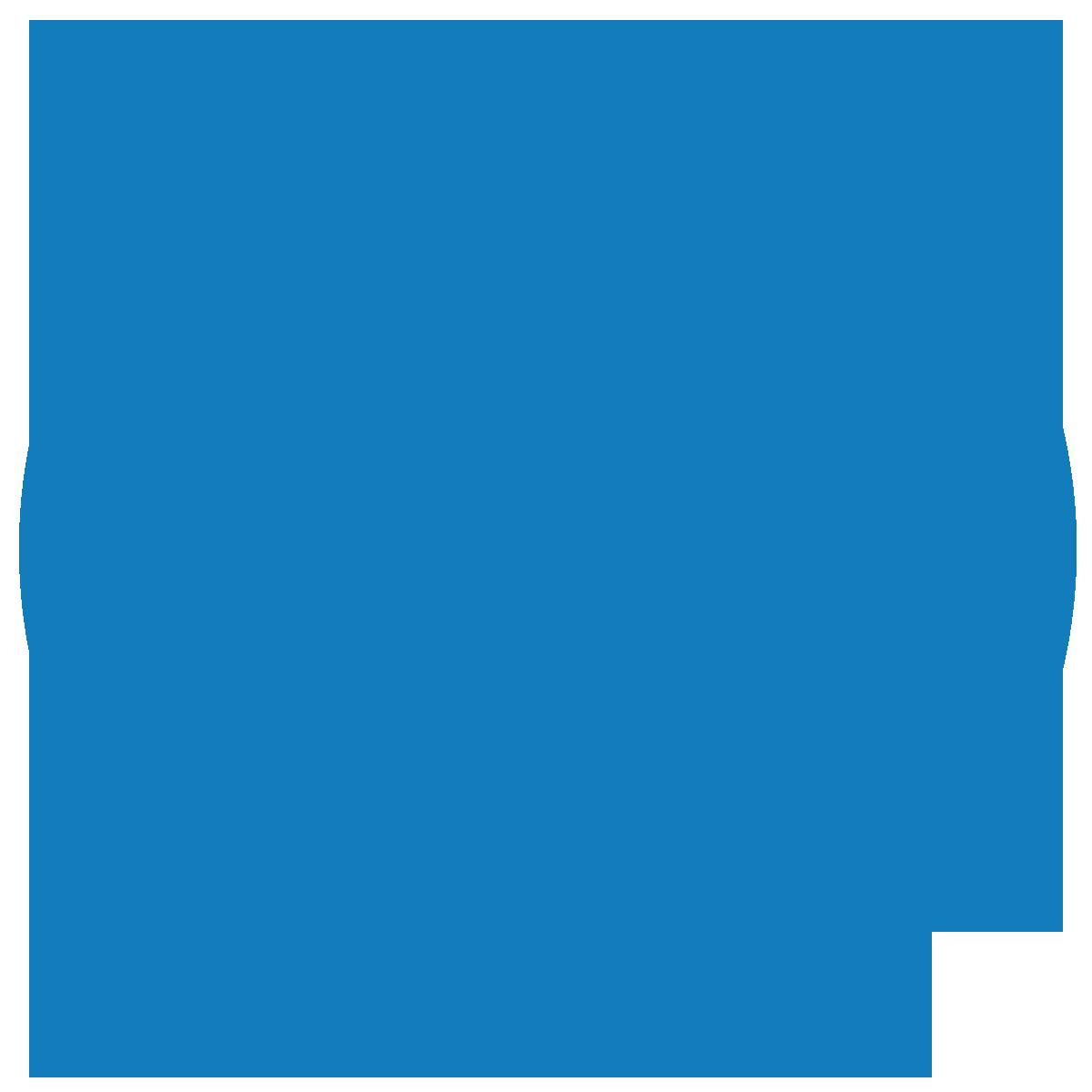 蓝色背景上的波浪图标