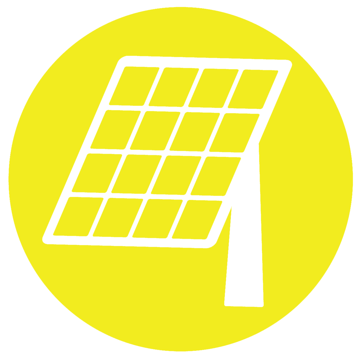 Solar panel icon on yellow background