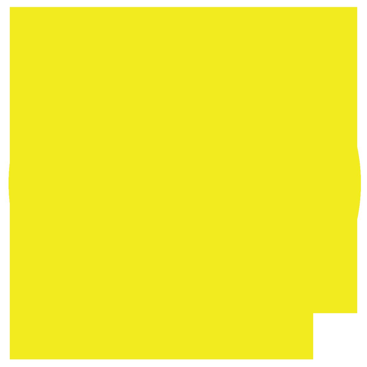 黄色背景上的太阳能面板图标