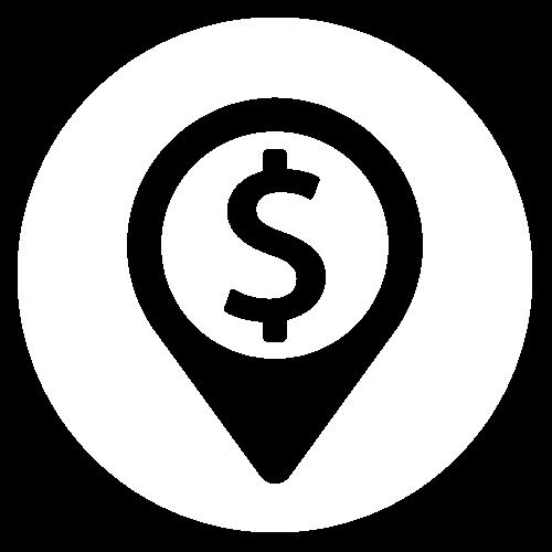 Dollar sign on white background