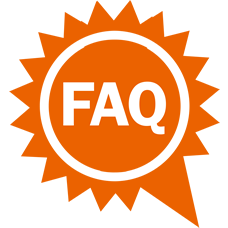 Sun with FAQ icon