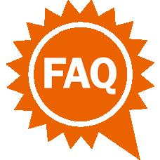 Sun with FAQ icon