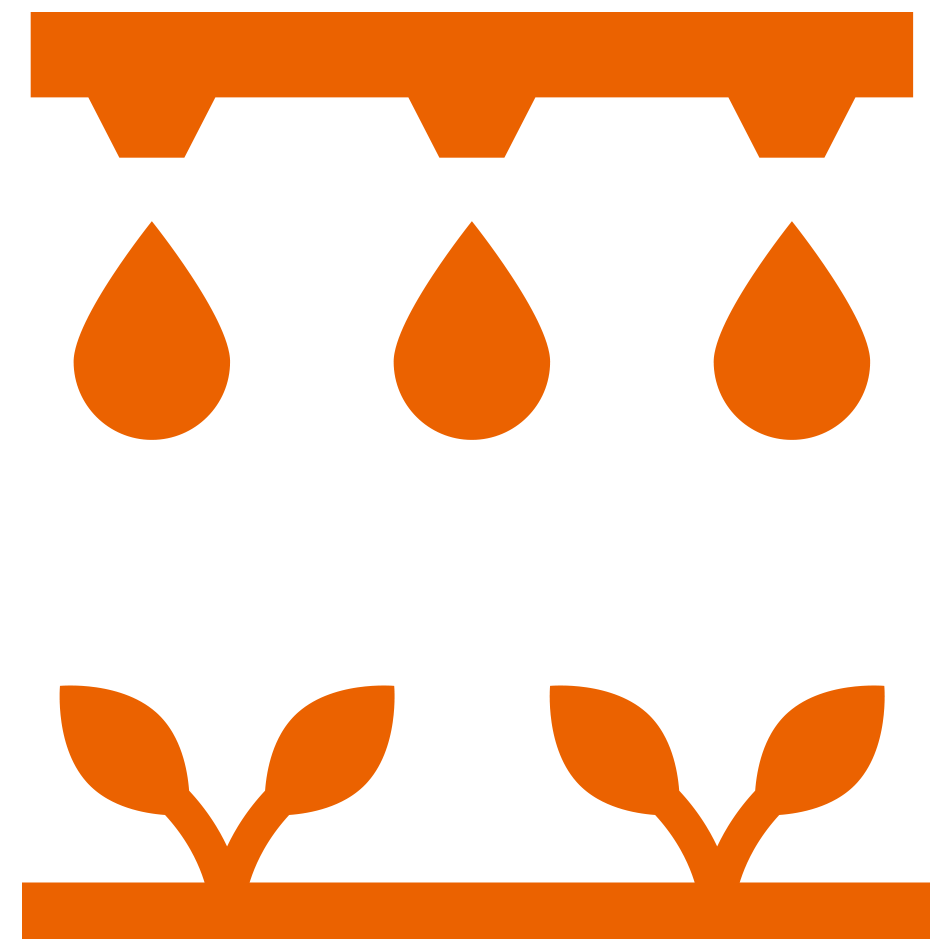 Irrigation System with Plants Below Icon