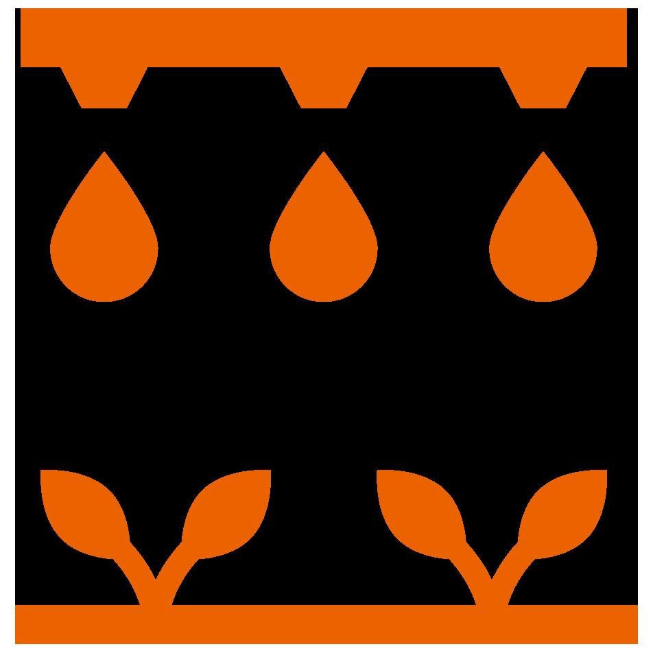灌溉系统与植物下图图标