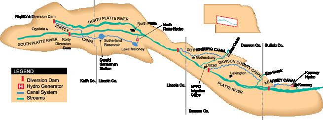 地图显示我们的水系统