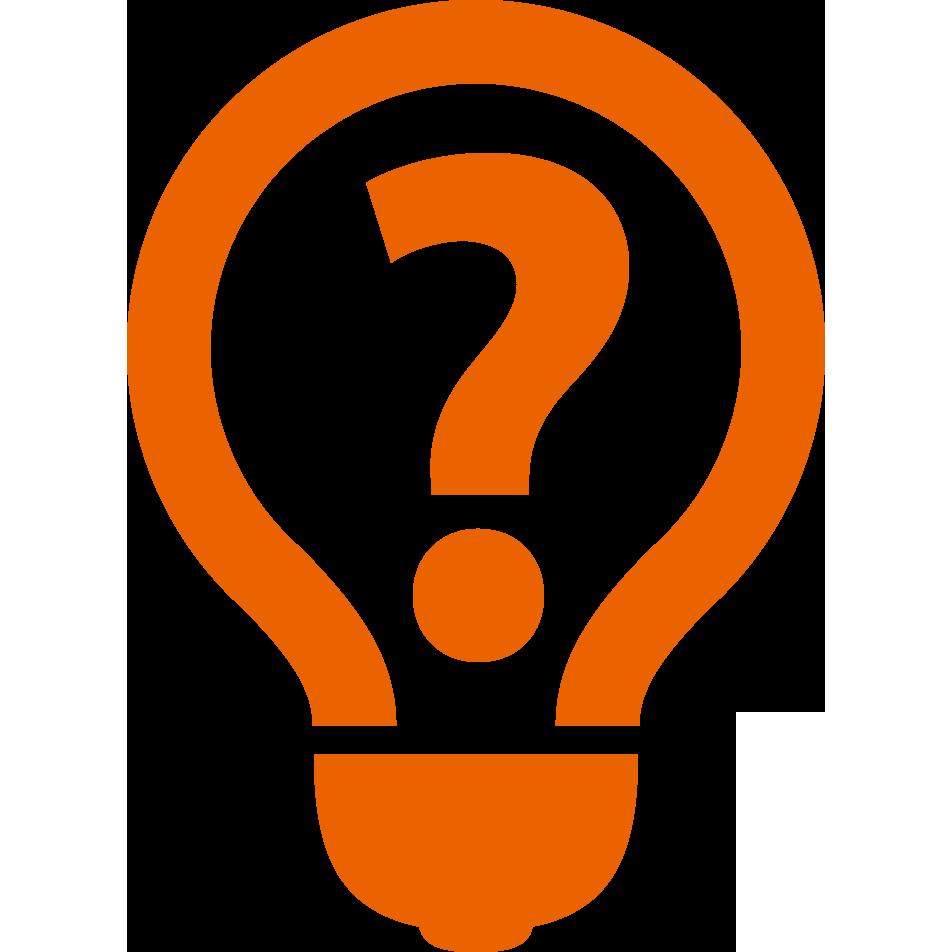 一个灯泡里面的问号图标