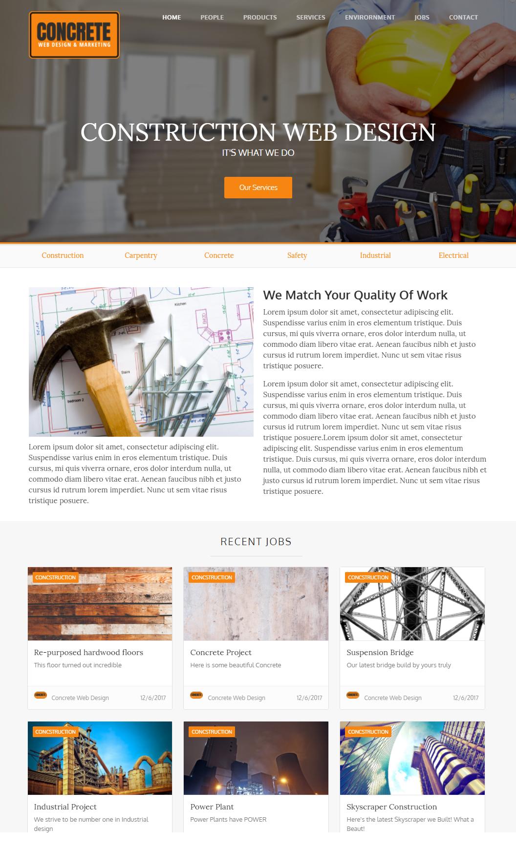 Concrete Demo Website