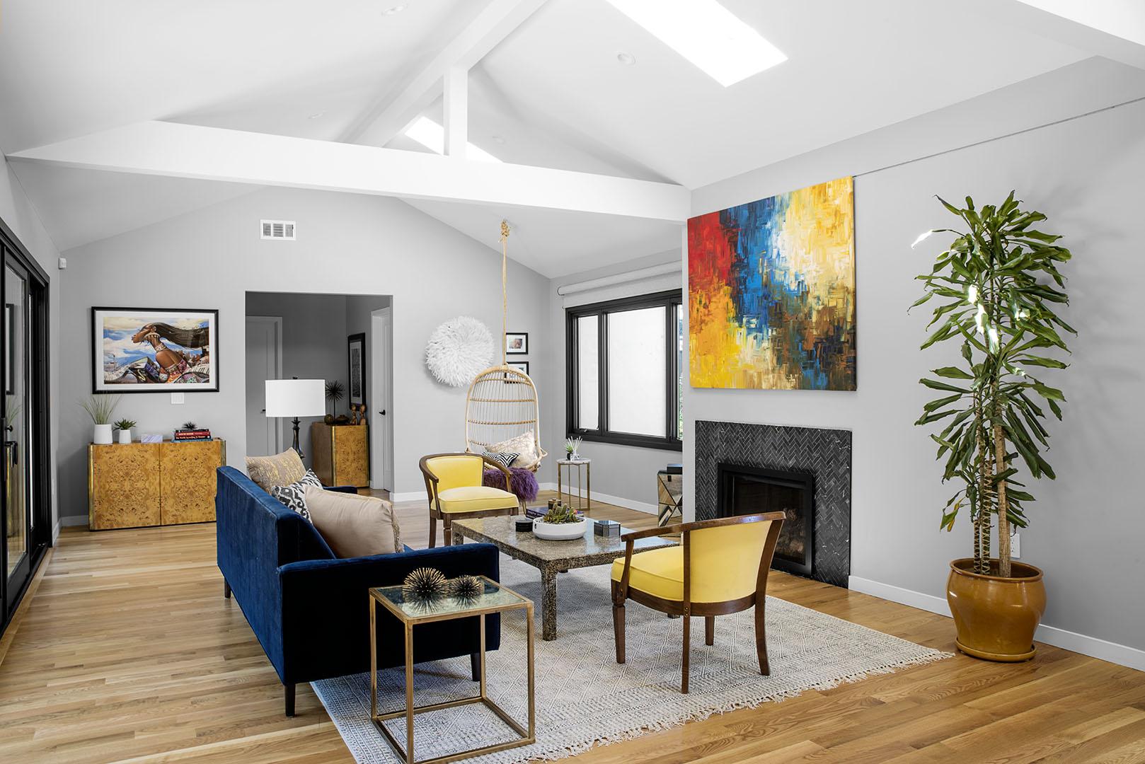 Living room interior design Oakland, CA