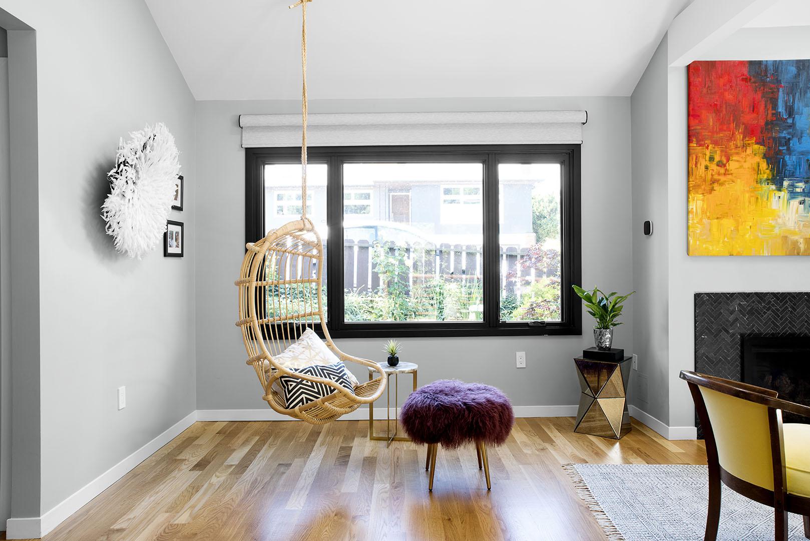 Living area interior design Oakland, CA