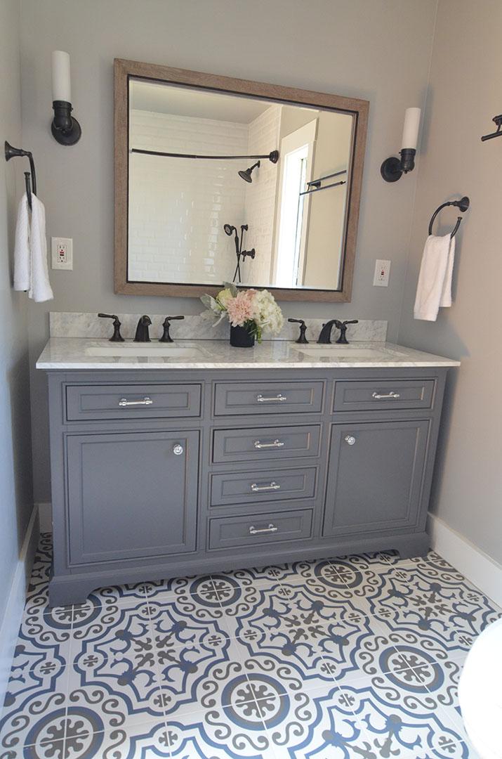 Bathroom vanity design in North Berkeley
