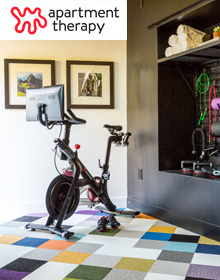 Colorful and Hi-Tech Home Gym