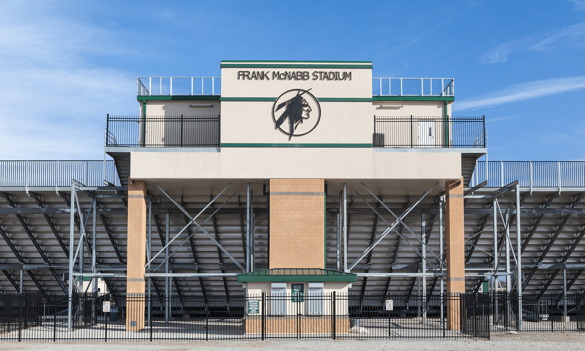 Photo of Frank McNabb Stadium Catoosa High School Pressbox