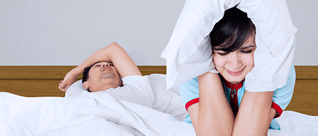 Snoring problems in relationships