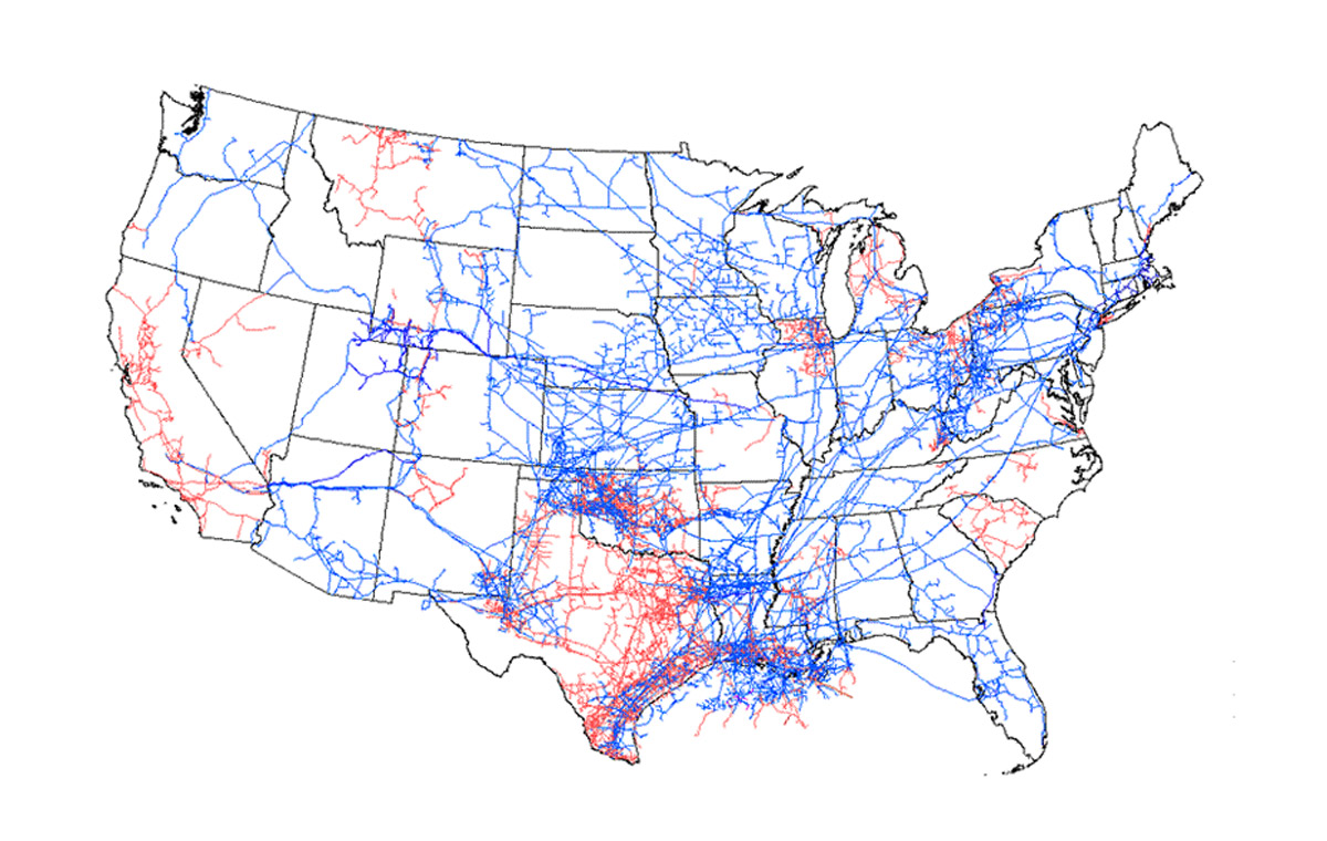energy production and pipeline transmission