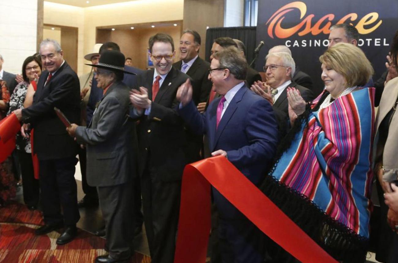 Ribbon cutting at the new Osage Casino Hotel Tulsa