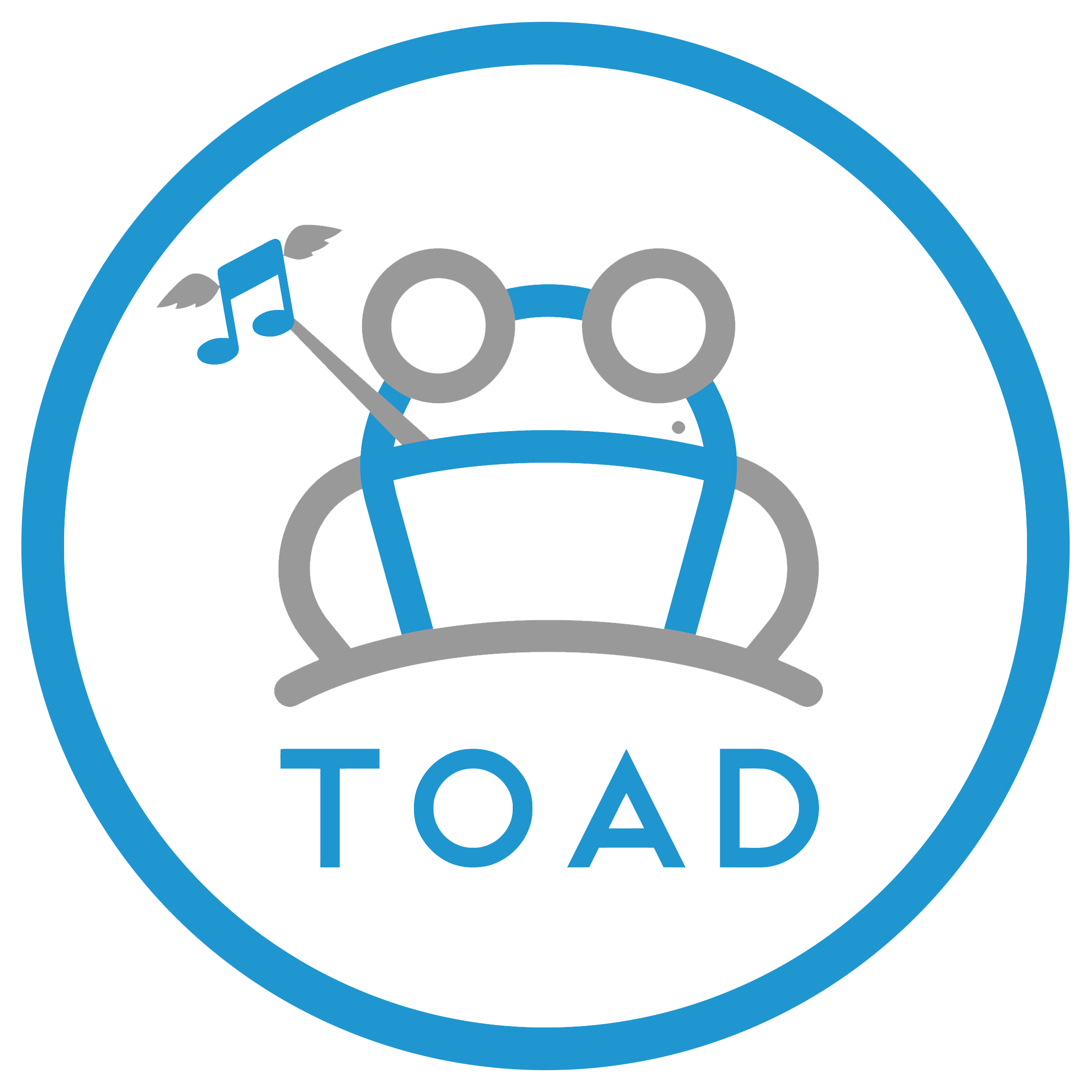 TOAD Logo White Circle