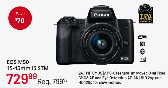 EOS M50 15-45mm IS STM