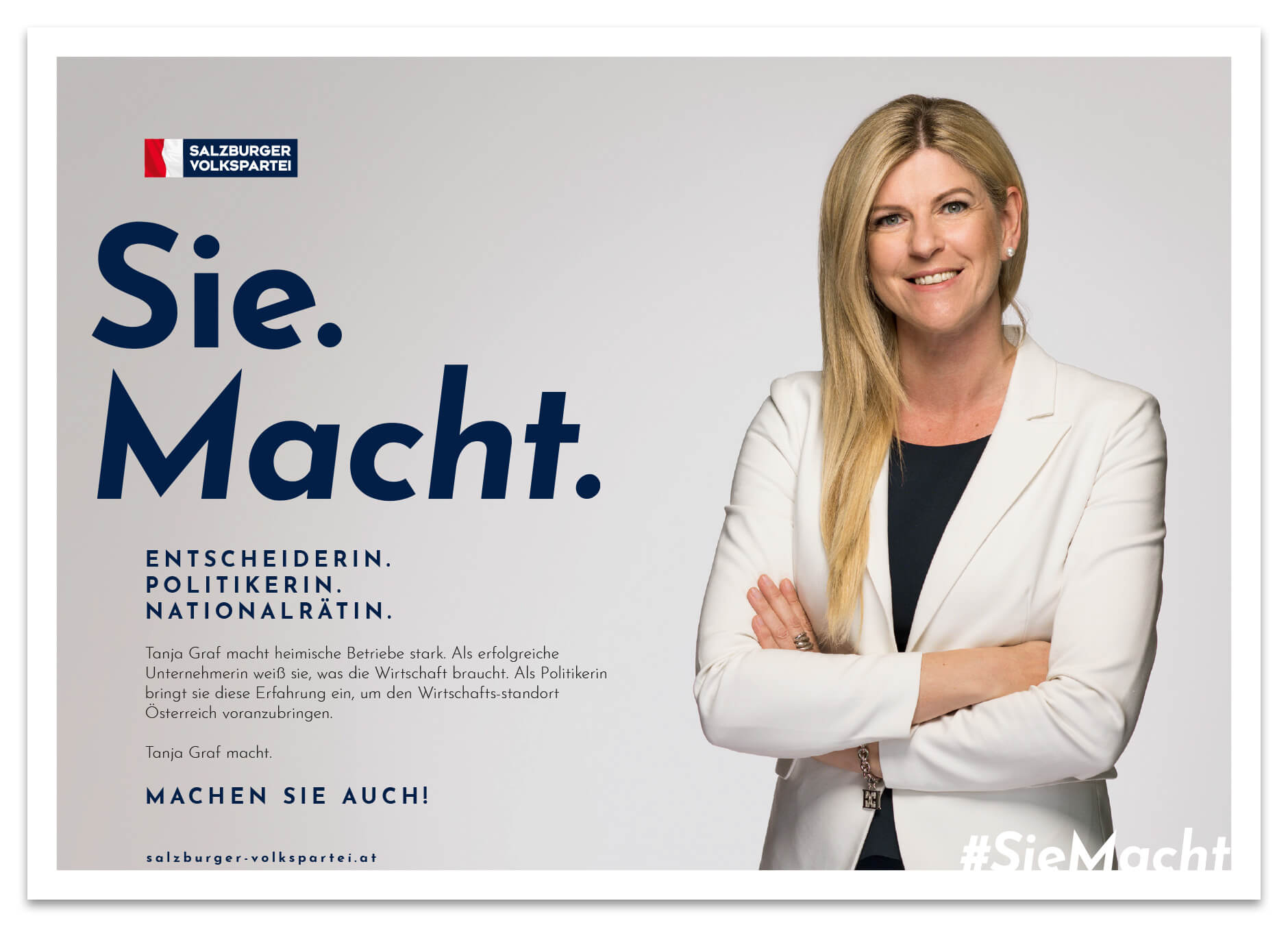 ÖVP Sie Macht Kampagne