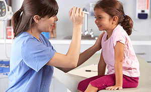 Child receiving ENT care from Lubbock Sinus specialists
