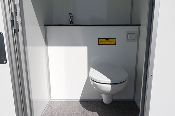 Toilet with waste disposal