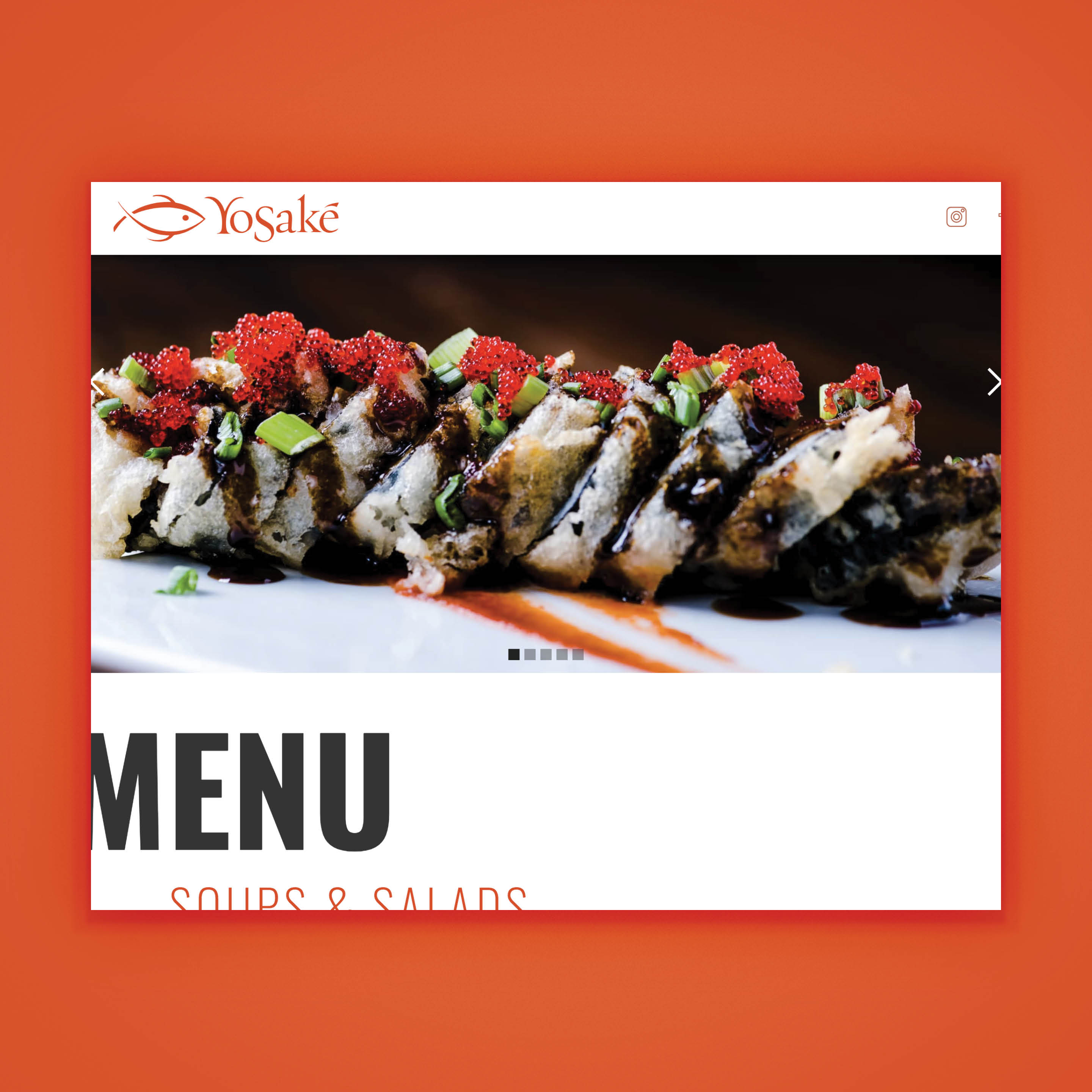 Yosake restaurant - website desgin by Brand Engine