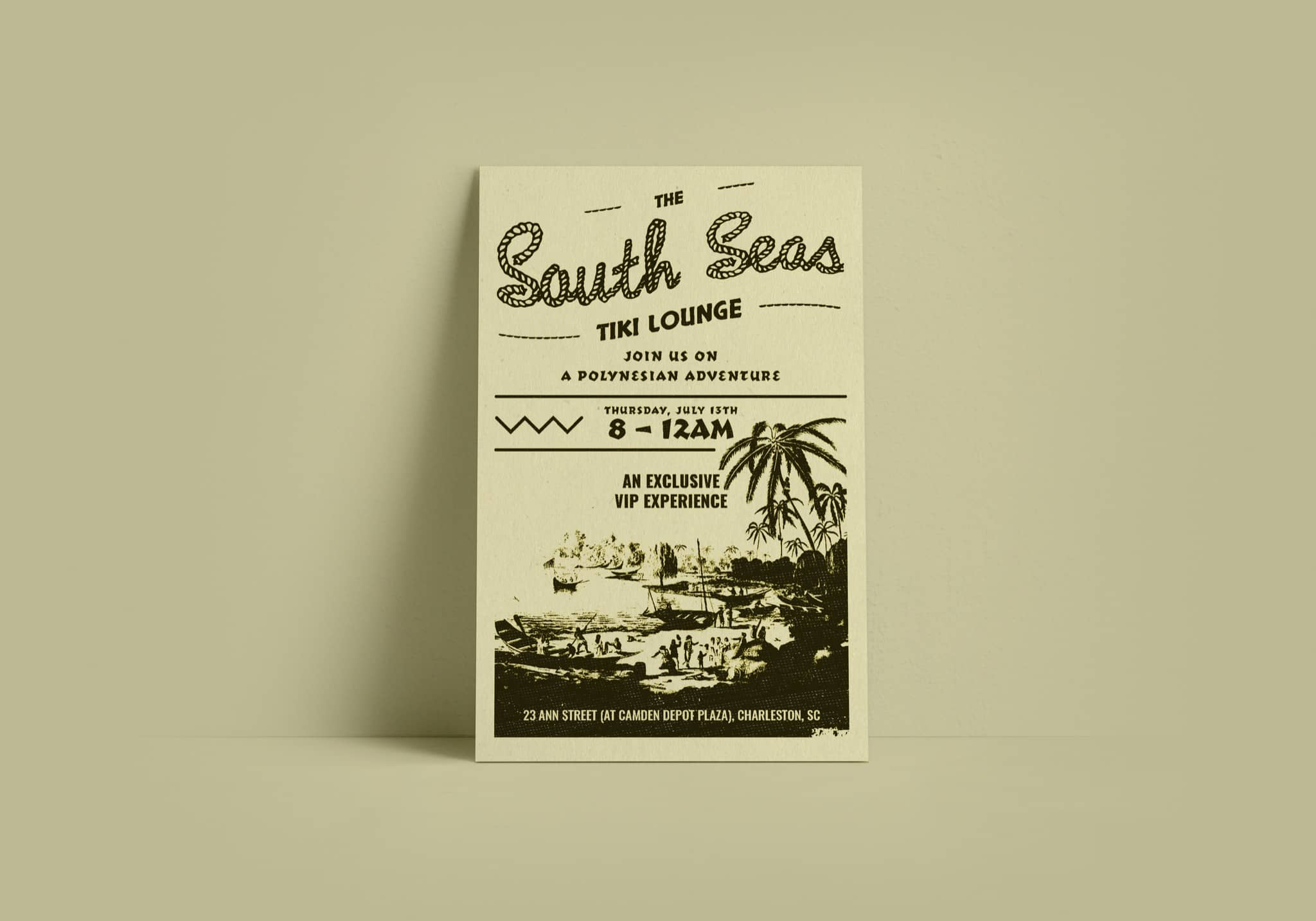 South Seas Tiki Bar Poster - Graphic Design and Branding by Brand Engine