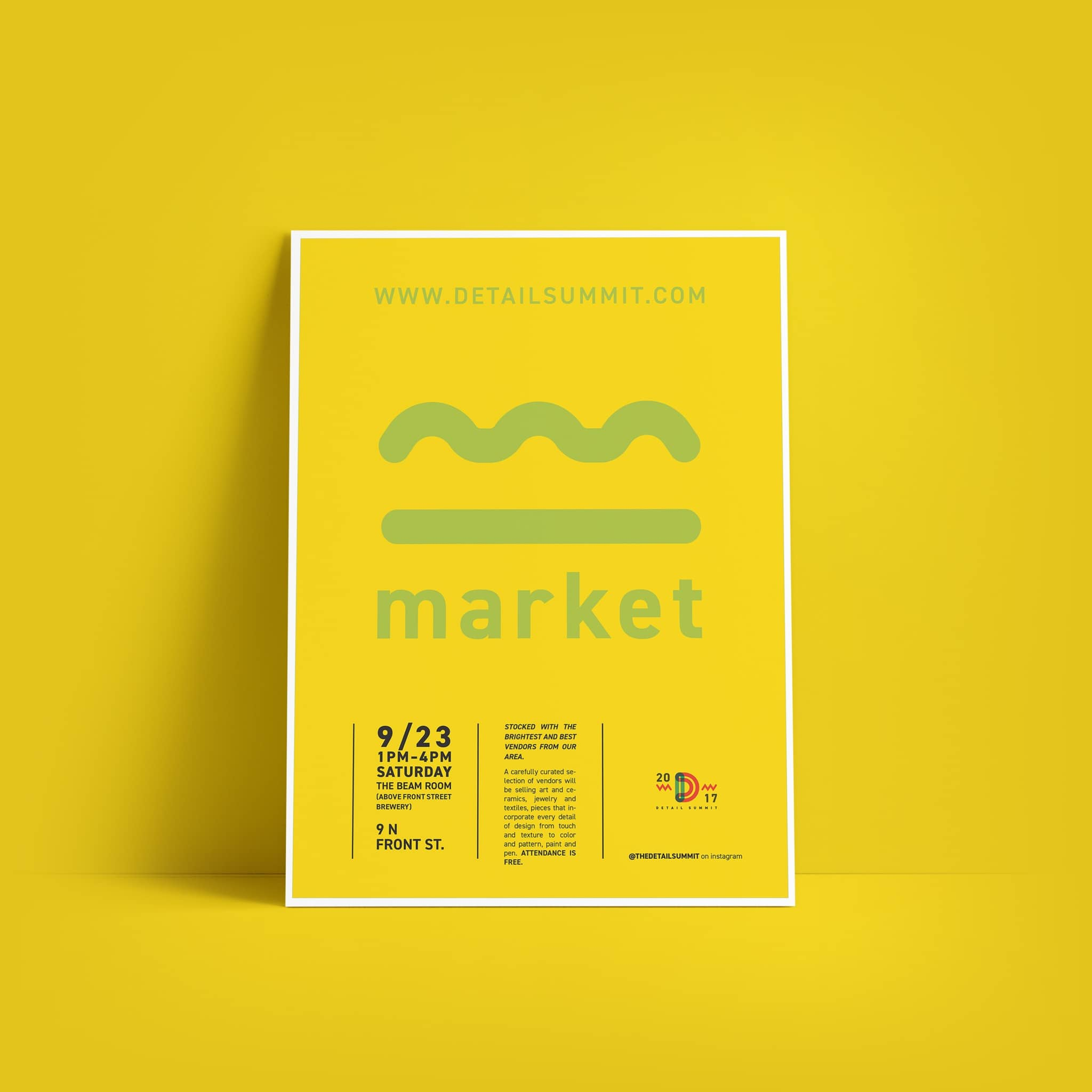 Detail Summit posters - graphic design by Brand Engine