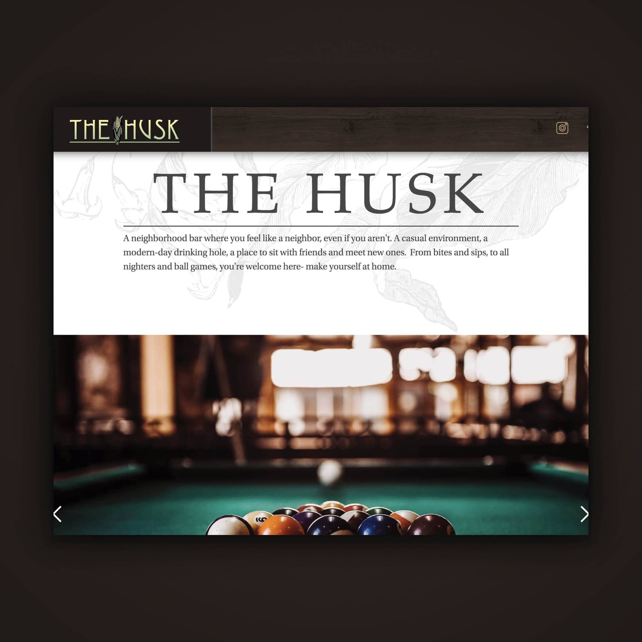 The Husk - Web Design by Brand Engine