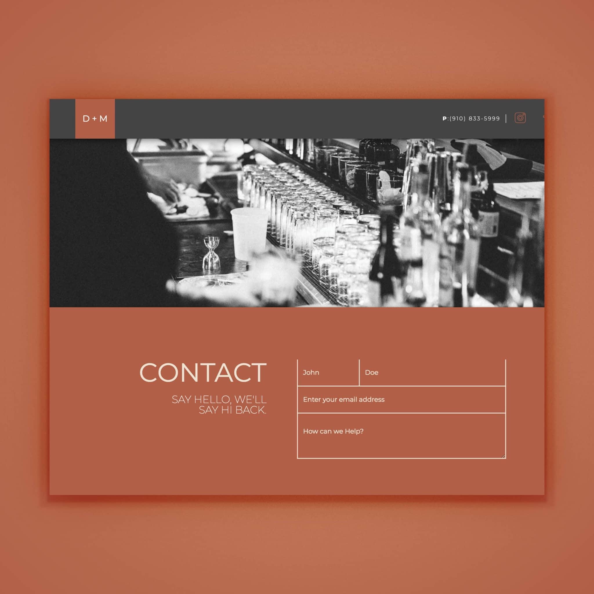 Dram + Morsel - Web Design by Brand Engine