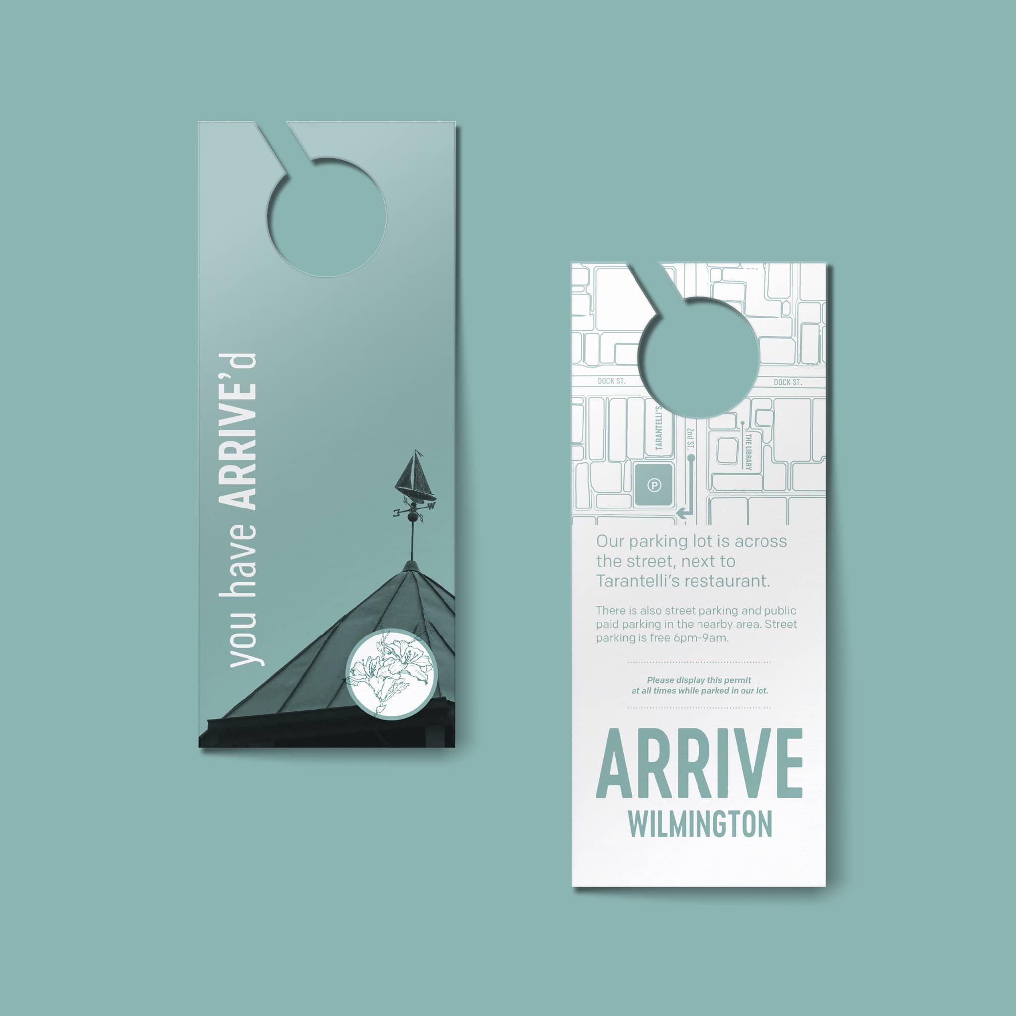 Arrive Hotels Gazebo Bar Menu Design and Room Collateral