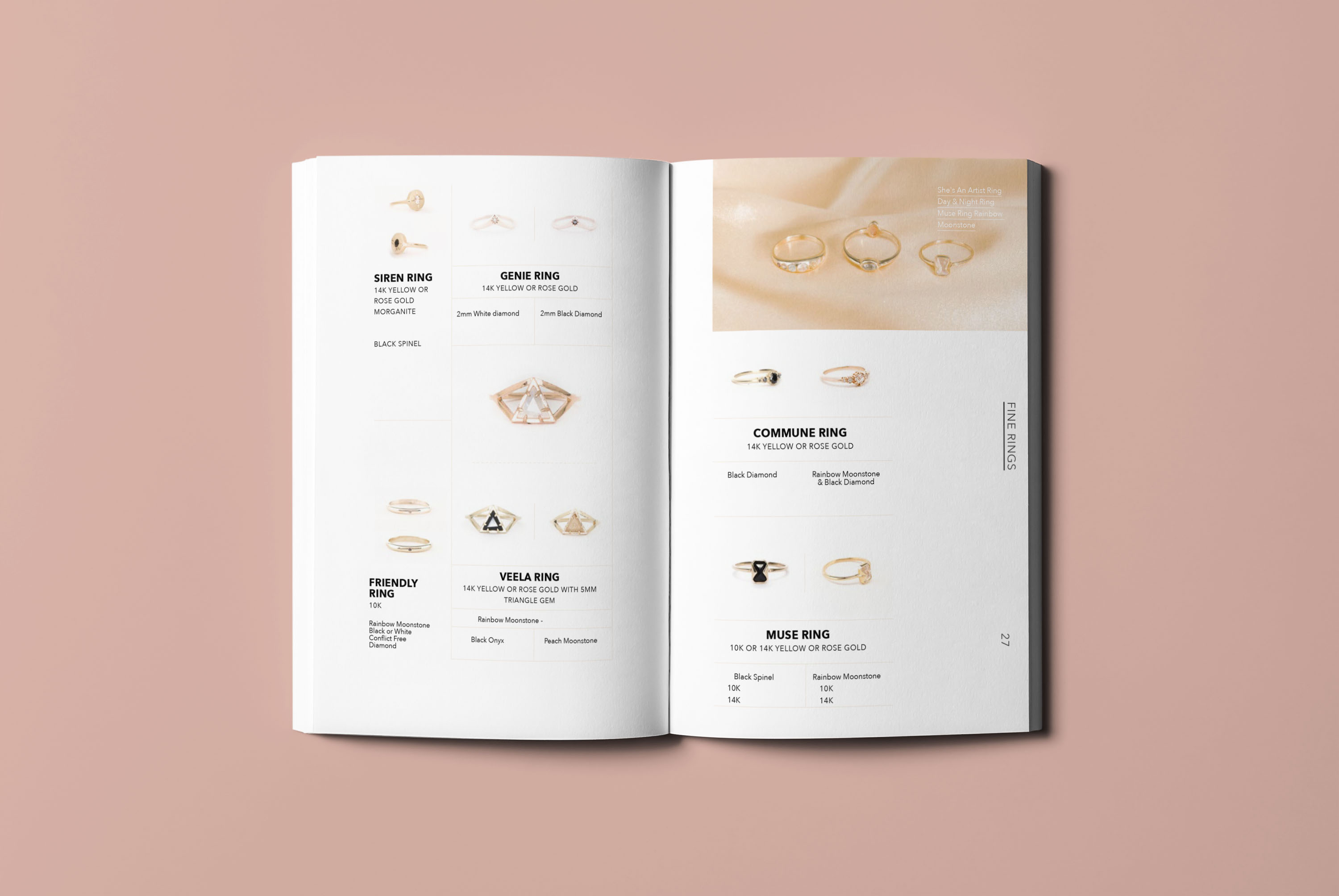 I LIKE IT HERE CLUB Jewelry Catalog Look Book Design by Brand Engine.