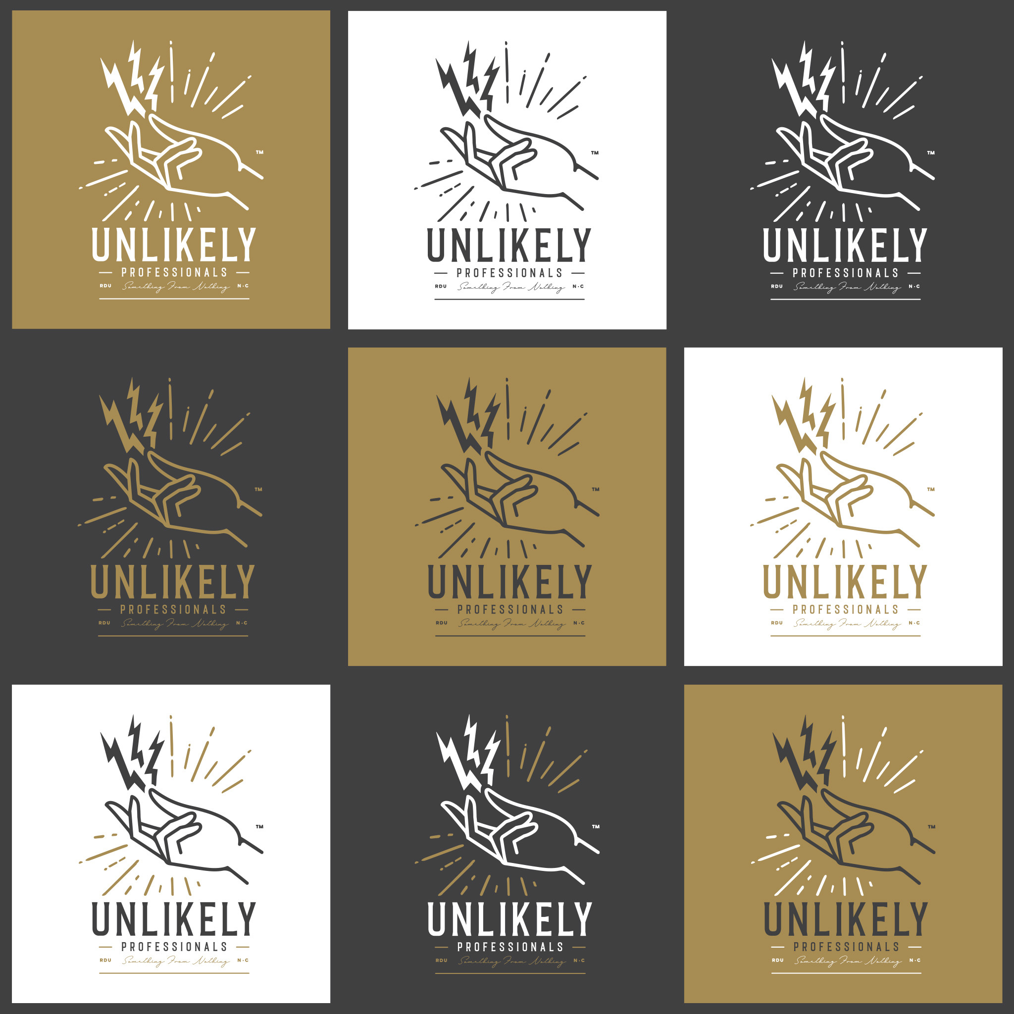 Logo and Brand Design for Unlikely Professionals by Brand Engine