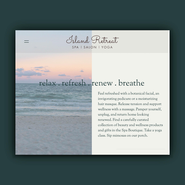 Island Spa Retreat Website Design By Brand Engine